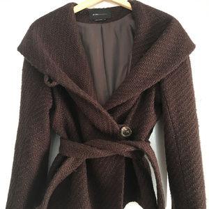 BCBGMAXAZRIA Wrap Coat w/Buttons